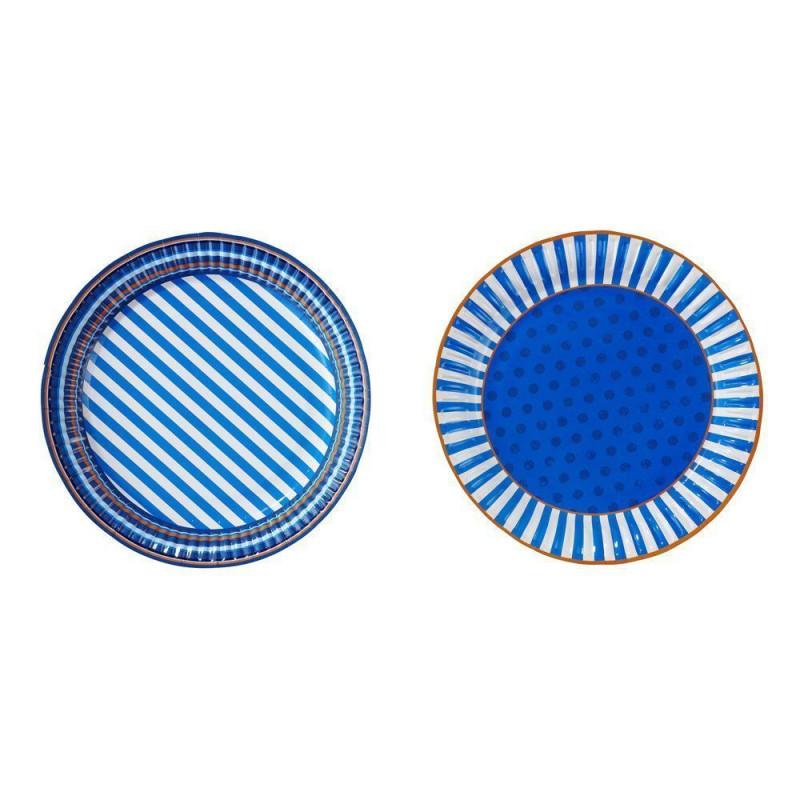 Platos fiesta Azul