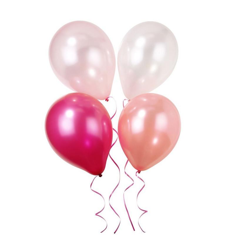 Pack de 12 globos rosa