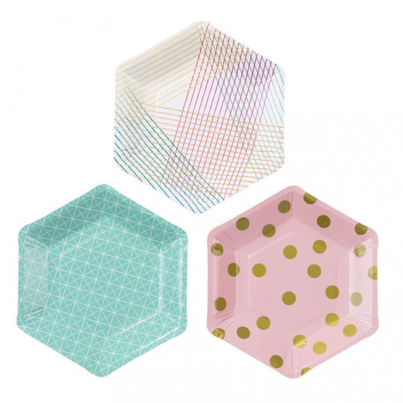 Platos fiesta Hexagonal Party
