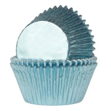 Cápsulas cupcakes color Azul Bebe Metalizadas House of Marie