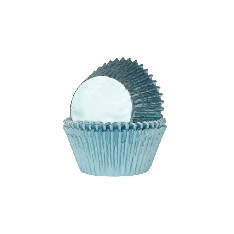 Cápsulas cupcakes Azul Bebe Metalizadas HoM
