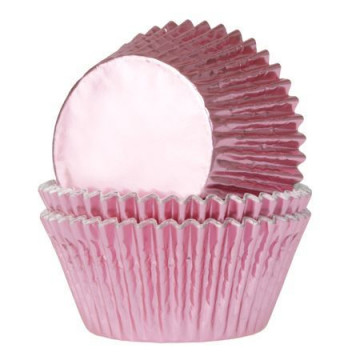 Cápsulas cupcakes color Rosa Bebe Metalizadas House of Marie