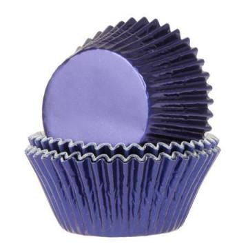 Cápsulas cupcakes color Azul Marino Metalizadas House of Marie