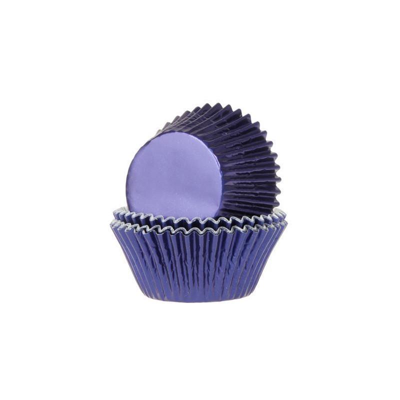 Cápsulas cupcakes Azul Marino Metalizadas HoM