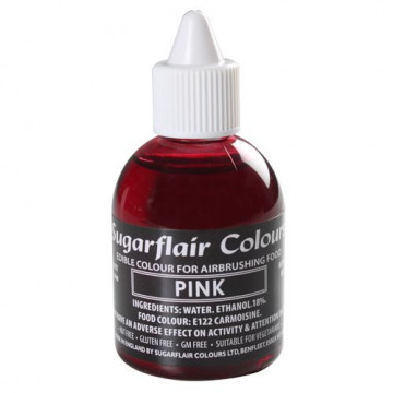 Colorante para aerógrafo Rosa 60ml Sugarflair