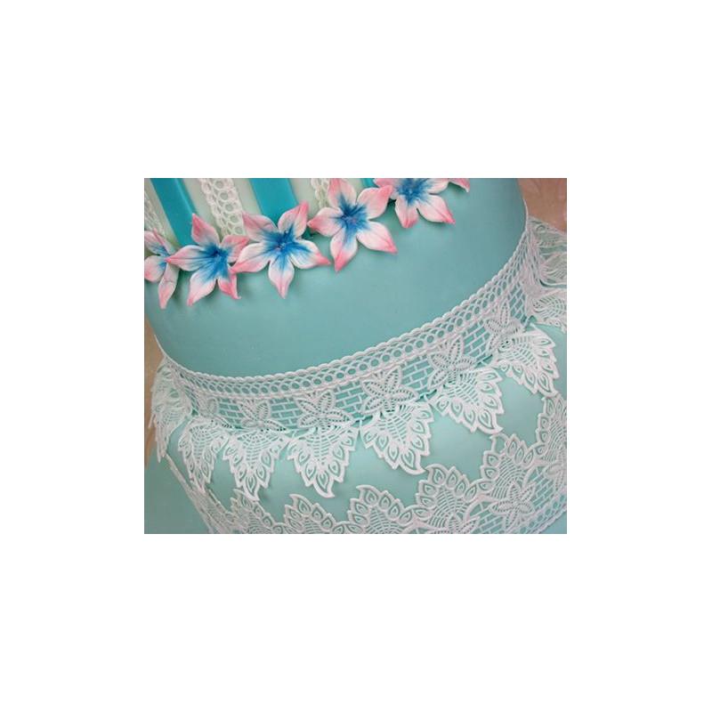 Tapete de silicona Peacock Cake Lace