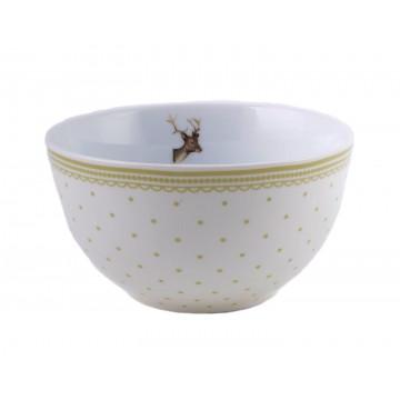 Bol de cerámica Ciervo Topos Highland Katie Alice
